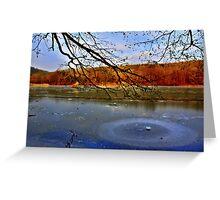 Wintry lake Greeting Card