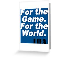 For game for the world fifa Funny Geek Nerd Greeting Card