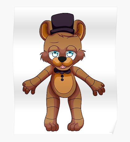 Five nights at Freddy chibi Freddy Poster
