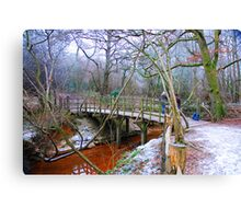 Poohsticks Bridge Canvas Print