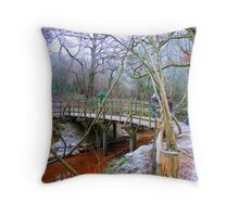 Poohsticks Bridge Throw Pillow