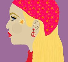 Bohemian Hippie Woman by kreativekate