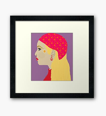 Bohemian Hippie Woman Framed Print