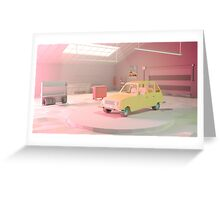 Yellow Automobile Greeting Card