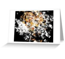 Squares In The Multidimensional Scenery Greeting Card