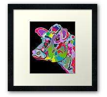 Colorful Daisy the Cow Framed Print