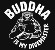 Buddha is my Divemaster- Light print on dark Kids Clothes
