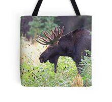 Bull Moose in Velvet Tote Bag