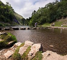 Stepping Stones, Dovedale by Paul Woloschuk