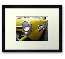 old taxi Framed Print