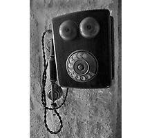 Old phone Photographic Print