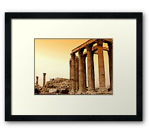 Temple of Olympian Zeus  Framed Print
