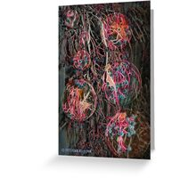 Electrified Berries Greeting Card
