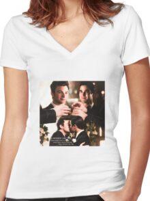 Glee: Klaine Wedding Women's Fitted V-Neck T-Shirt