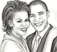 Barack and Michelle Obama by emizaelmoura