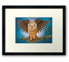 Owl in Night Flight Framed Print