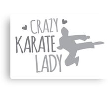Crazy KARATE Lady Canvas Print