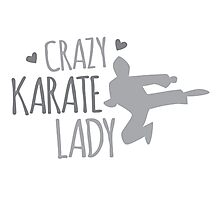 Crazy KARATE Lady Photographic Print
