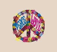 Flower Power Peace & Love Hippie  Tee Shirt Womens Fitted T-Shirt