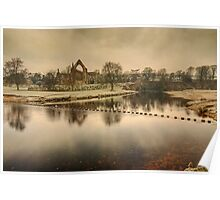 Stepping Stones on the River Wharfe Poster