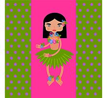 Hawaiian dancer with hibiscus Photographic Print