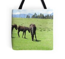 Mare and Colts on a Hill Tote Bag