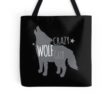 Crazy Wolf Guy Tote Bag