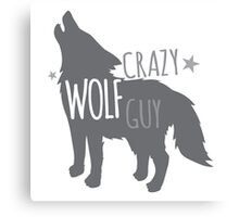 Crazy Wolf Guy Canvas Print