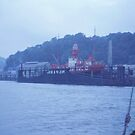Long Ago 7 - Lightship In Floating Dock by Francis Drake