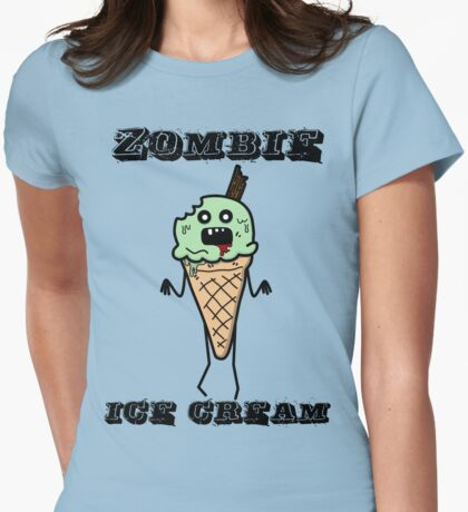 Zombie ice cream Womens Fitted T-Shirt