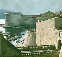 Drawbridge, Dubrovnik Fortress, Croatia. by cjkuntze