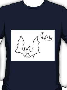 bat flughund at night moon T-Shirt
