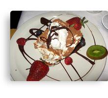 Dessert At Tramanto Canvas Print