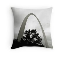 the Arch from the Levee Throw Pillow