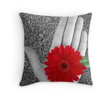 Hand Held Ruby Throw Pillow