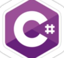 C# sharp stickers Sticker