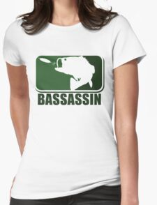 Bass assassin bass fishing humor Womens Fitted T-Shirt