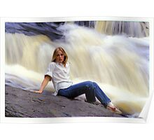 M. with Waterfall Poster
