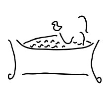 woman in the bath with duck by lineamentum