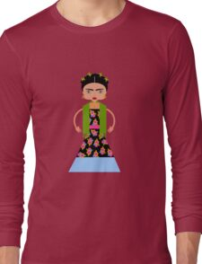 Frida woman painter Long Sleeve T-Shirt