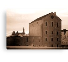 The Old Willson Carbide Mill and a View of Parliament Canvas Print