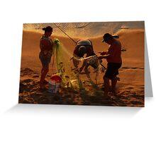 golden fishing - pescando oro Greeting Card