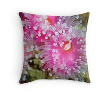 Pink and Painted Throw Pillow