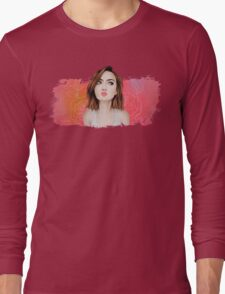 Lily Collins Xo Long Sleeve T-Shirt