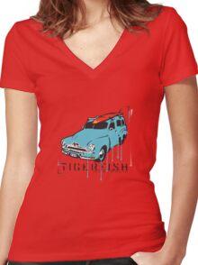 FJ Panelvan Women's Fitted V-Neck T-Shirt