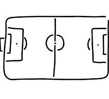 soccer football field by lineamentum