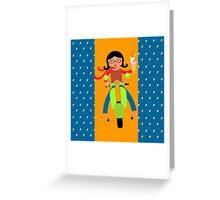 Italian girls love ice cream Greeting Card