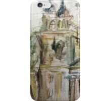 Watercolour buildings iPhone Case/Skin