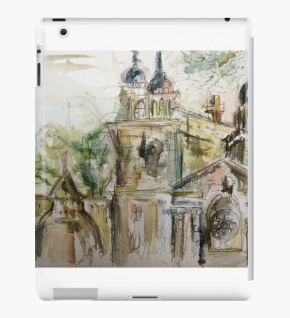 Watercolour buildings iPad Case/Skin