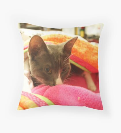 Totally Relaxed Throw Pillow